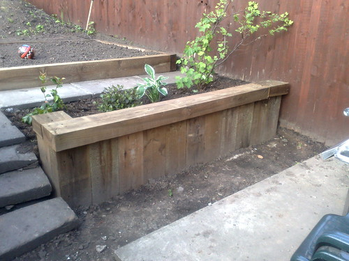 how to cut garden sleepers