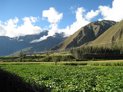 Out of the Valley (icelight) Tags: shadow peru train landscape rail hills andes sacredvalley