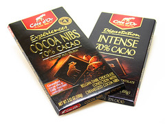 Cote d'Or Cocoa Nibs in 70% Cacao & 70% Intense Cacao Bar