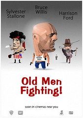 old men fighting
