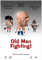 old men fighting