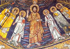 Santa Cecilia mosaic (jimforest) Tags: rome icons mosaics trastevere santacecilia romepilgrimage