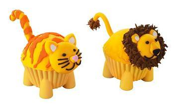 silly critters silicone baking cups