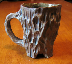 A mug a hobbit would die for (LoriPhillipsCeramics) Tags: brown tree cup nature coffee tea lotr clay mug pottery organic teacup stoneware ceramicsandpottery