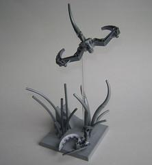 Chrome Wildlife (Battledog) Tags: birds metal silver lego deep chrome vignette moc