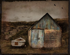 An Old Boat Shed in Wicklow (wolfmanmoike) Tags: door boat paint decay grunge shed wicklow photoart aplusphoto memoriesbook photoartbloggroup