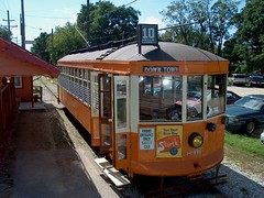 Preserved Milwaukee city streetcar from 1924.