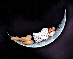 Sleeping on the Moon (steve_steady64) Tags: sleeping moon black cute girl smile night asian mond pretty joy young luna thai namtip  buwan   mahina   platinumheartaward