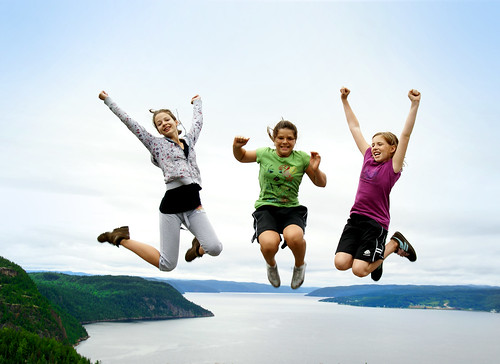 Jumping over the Saguenay river