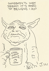 Yoda sketchbook Vol. 2 page 9 - Jim Woodring