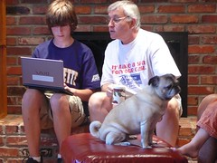 sam and grandpa check out sam's hacking skillz (alist) Tags: family alist robison alicerobison 66214 ajrobison