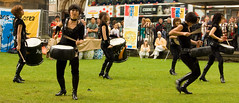 drum cats in the gardens (Baldred) Tags: drums scotland edinburgh percussion fringe korean drumcats edinburghfringe2008