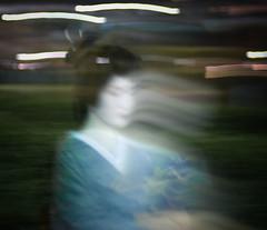 Geisha On The Move (.Hessam) Tags: japan night kyoto geisha afterdark pontocho