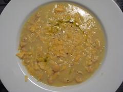 Sopa grão-de-bico e alho-poró