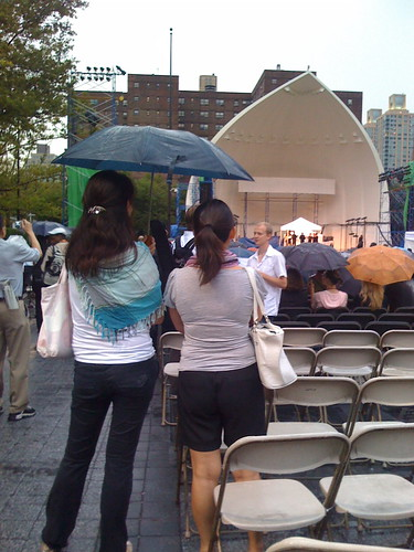 Rain at Lincoln Center