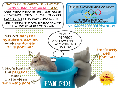 Neko at the Olympics (Synchronized Swimming)