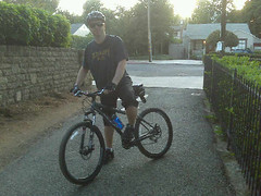 Tim takes his new mountain bike for a spin. (08/27/2008)