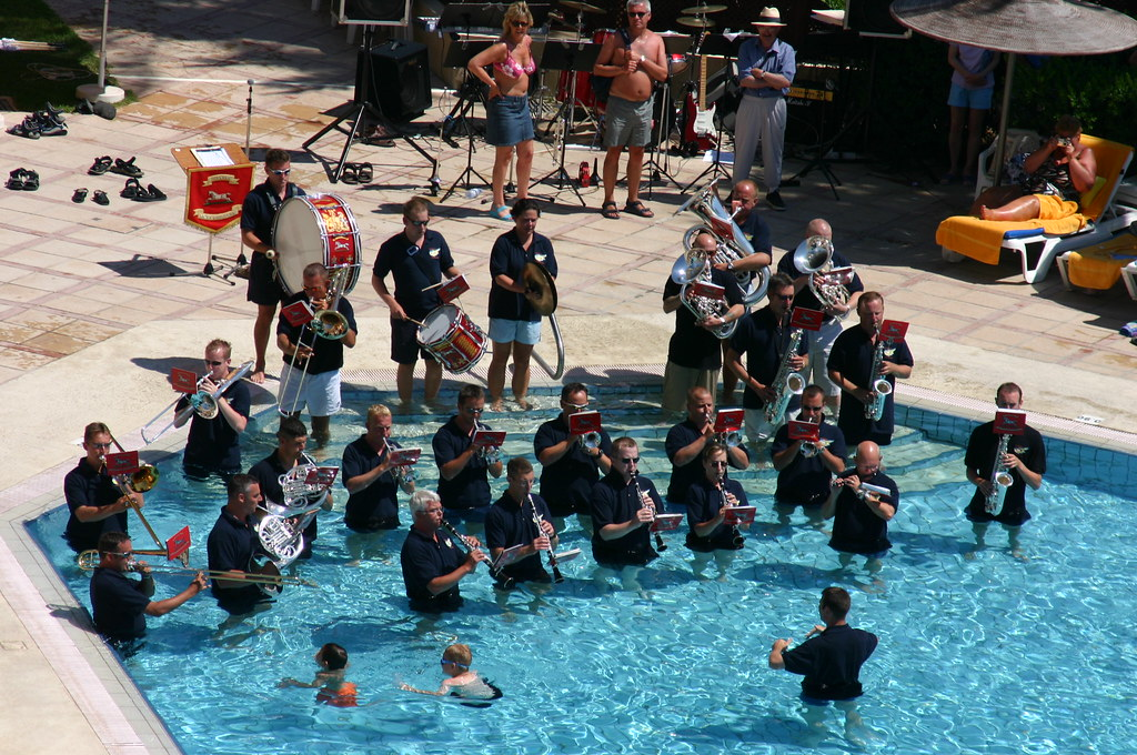 Military Band In The Pool