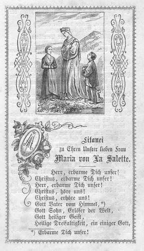 Litanei zu Ehren Unserer lieben Frau von La Salette von 1871