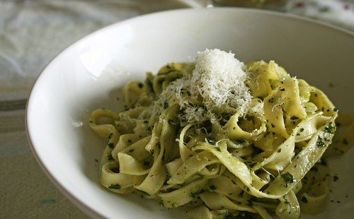 fettucine with pistou