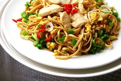 Stir Fried Chicken Noodle -  (CharlieBrown8989) Tags: food chicken closeup canon ginger yahoo interestingness flickr chili zoom herbs salt picasa best explore garlic eggs noodles tele soysauce onion oliveoil oystersauce tamron charliebrown8989 corel blackpepper springonion charliebrown8989sgourmet strawmushroom paintshopproxi