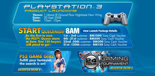 PlayStation® 3 Launching @ 1Utama