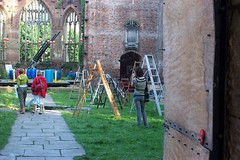 Yoko Ono's 'Skyladders for Liverpool', St Luke's Church, Liverpool by Dradny