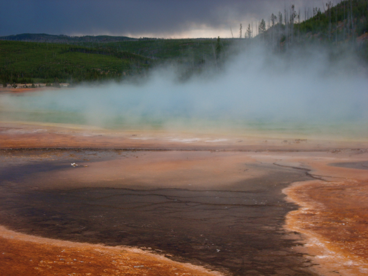 Day 262/366: Grand Prismatic Spring and Approaching Storm