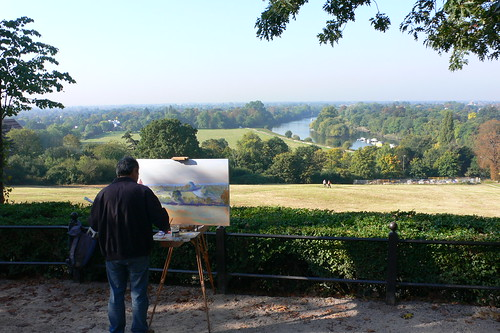 Painting the view from Richmond Hill