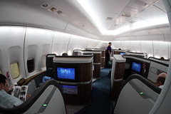 The New Cathay Pacific First Class (Ch.H) Tags: from new during los pacific angeles flight first cx class hong kong business seats karl marco boeing lax brand polo cathay hkg 747 jumbo hab the 467