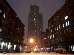 snowOnDuaneTriangleP1030040sm.jpg (-i-) Tags: street new york nyc winter snow newyork car america amber triangle streetlight downtown parking snowstorm northamerica tribeca duane sleet scoopt webstill lpwinter