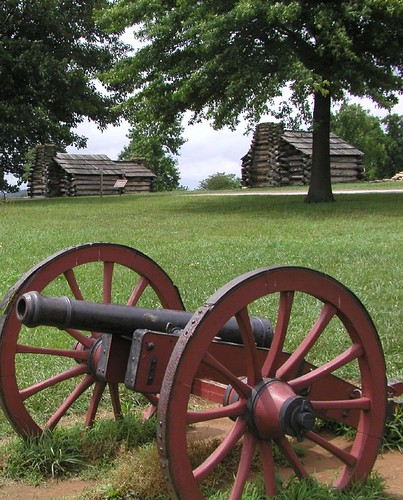 A cannon at Valley Forge by Austin
