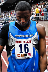 Penn Relays Carnival (Starmaker Photos) Tags: carnival man black male college philadelphia sports field race photography athletic athletics university track pennsylvania muscular young running run pa penn africanamerican runner sprint 2008 hurdles relays sprinting bopr