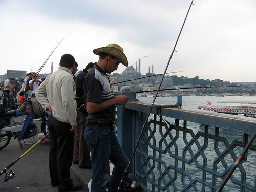 Fishermen at Galata Bridge
