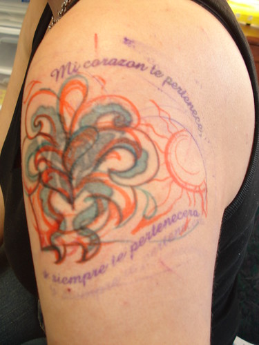 Left shoulder/arm cover-up tattoo | Flickr - Photo Sharing!