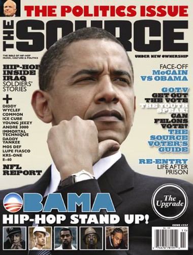 barack obama on the cover of the source magazine