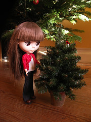 Matine and her Christmas tree