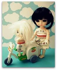 Dantop & Chantilly... (Teka e Fabi) Tags: girls bonecas dolls handmade dresses lea match meninas chantilly vestidos pury latiyellow combinando latiwhite tekaefabi dantop