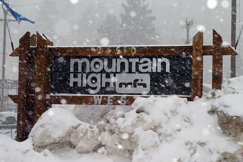 Mt. High, CA entrance sign