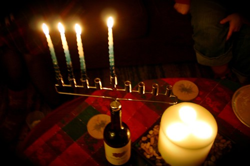 Happy Hanukkah from my wine bottle to yours