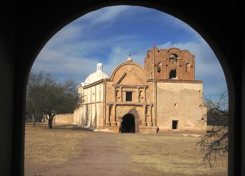 Old mission church at Tumacacori, Arizona