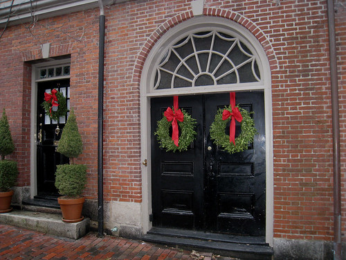 Holiday Doors in Beacon Hill