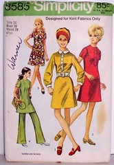 Vintage Simplicity Pattern 8585 Womens Size 16 Mod 60s Form Fitting A-Line Dress Tunic and Pants Bust 38 (Sassy By Design) Tags: she vintage mod 60s flickr sewing patterns womens retro international cast hip etsy formfitting alinedress size16 bust38 sassybydesign waist29 simplicity8585