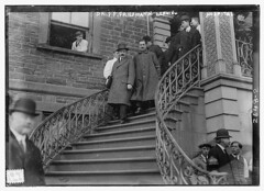 Dr. F.F. Friedmann leaving hospital  (LOC) (The Library of Congress) Tags: men stairs hospital libraryofcongress banister tuberculosis xmlns:dc=httppurlorgdcelements11 turtlevaccine dc:identifier=httphdllocgovlocpnpggbain12615 drfffriedmann greatmustachesoftheloc