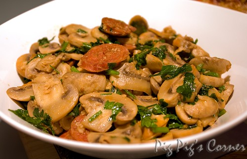mushrooms chorizo p
