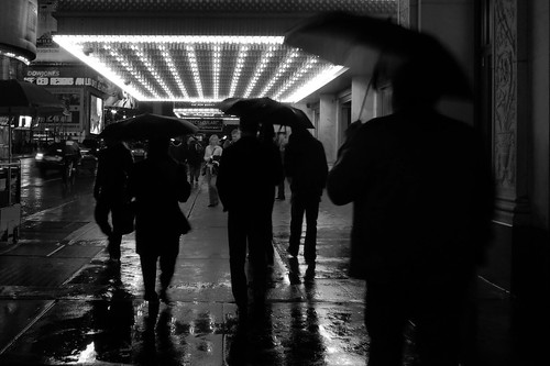 New York in the rain 282bw
