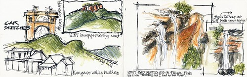 090102 Car and Waterfall Sketches