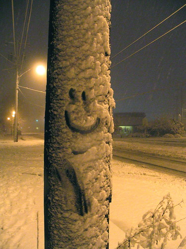 Smiling face on Beacon Avenue South. Photo by Wendi.