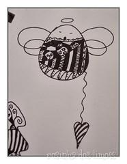 Anjinho III (rosinha_dos_limoes) Tags: angel handmade rabiscos craft doodle draw desenho anjo etiquetas trabalhosmanuais