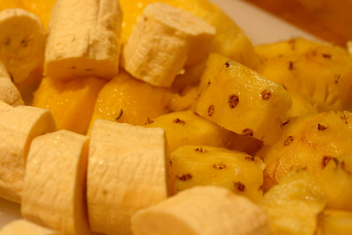 Pineapple plantain and mango